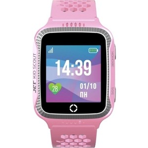 Детские умные часы JET Kid Scout grey pink