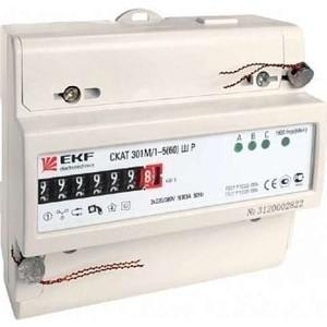 Счетчик электрической энергии EKF СКАТ 301М/1-5(60) Ш Р (30102Р) цена