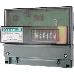 Счетчик электрической энергии Инкотекс Меркурий 231 АМ-01 3ф 5-60А 1 класс точности 1 тарифный импульсный выход механическое крепление / DIN - рейка (32430) тарифный план