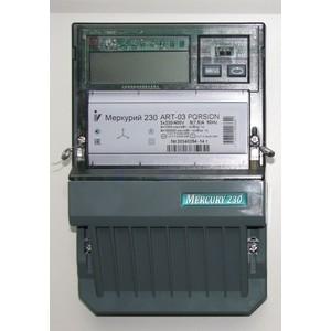 Счетчик электрической энергии Инкотекс Меркурий 230 ART-03 PQRSIDN 3ф 5-7.5А 0.5s/1.0 класс точности многотарифный RS485 ЖКИ Моск. вр. (32775)