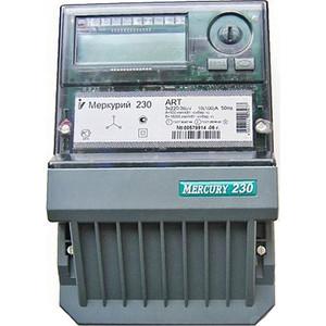 Счетчик электрической энергии Инкотекс Меркурий 230 ART-00 PQRSIDN 3ф 5-7.5А 0.5s/1.0 класс точности многотарифный RS485 ЖКИ Моск. вр. (32491)