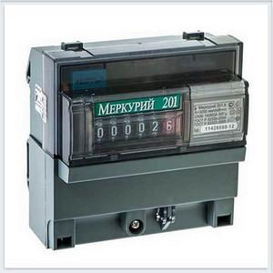 Счетчик электрической энергии Инкотекс Меркурий 201.6 1ф 10-80А 1 класс точности 1 тарифный импульсный выход механическое табло (32417) тарифный план