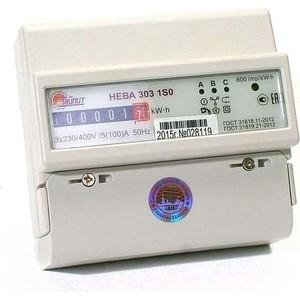 Счетчик электрической энергии ТАЙПИТ НЕВА 303 1S0 3ф 5-100А 230/400В 1 тарифный механическое экран DIN - рейка (6056053) тарифный план