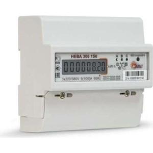 Счетчик электрической энергии ТАЙПИТ НЕВА 306 3ф 5-100А 1 класс точности ЖКИ (6056055)