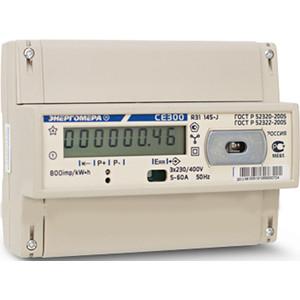 Счетчик электрической энергии Энергомера СЕ300 R31 146-J 1т. 3ф 5-100А 230/400В 1 класс точности оптический интерфейс ЖКИ DIN - рейка (101003003009192) рейка din 10см