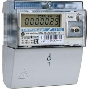 Счетчик электрической энергии Энергомера СЕ102 R5.1 145 J 1ф 5-60А 1 класс точности многотарифный универс. крепление CAN ЖКИ Моск.вр (101002003011695)