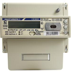 Счетчик электрической энергии Энергомера СЕ303 R33 746-JAZ 3ф 5-100А 230В 1/1 класс точности многотарифный оптопорт RS485 Моск. вр. (101004003009114)