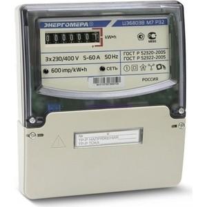 Счетчик электрической энергии Энергомера ЦЭ6803В 1 3ф 10-100А 230В 1 класс точности 1 тарифный 4пр M7P32 щиток или DIN - рейка (101003001011076) тарифный план