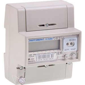 Счетчик электрической энергии Энергомера СЕ102М R5 145 J 1ф 5-60А 1 класс точности многотарифный оптопорт ЖКИ Моск. вр. (101002003010556)