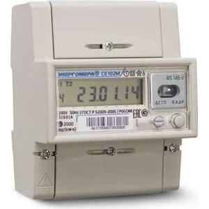 Счетчик электрической энергии Энергомера СЕ102М R5 145 А 1ф 5-60А 1 класс точности многотарифный EIA485 ЖКИ Моск. вр. (101002003010748)