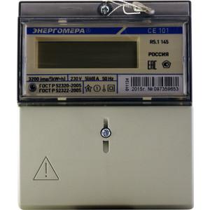 Счетчик электрической энергии Энергомера СЕ101 R5.1 145 1ф 5-60А 230В 1 класс точности 1 тариф ЖКИ на рейку и в щит (101001003011124)