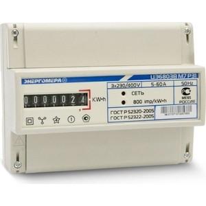 Счетчик электрической энергии Энергомера ЦЭ6803В 1 3ф 1-7.5А 230В 1 класс точности 1 тарифный 4пр М7Р31 DIN - рейка (101003001011068)