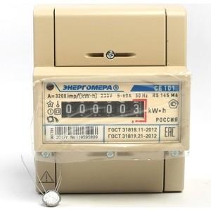 Счетчик электрической энергии Энергомера СЕ101 R5 145 М6 1ф 5-60А 1 класс точности механическое экран DIN - рейка (101001003007791)