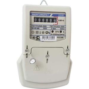 Счетчик электрической энергии Энергомера СЕ101 S6 145 М6 1ф 5-60А 1 класс точности механическое экран в щиток (101001003007789) цена