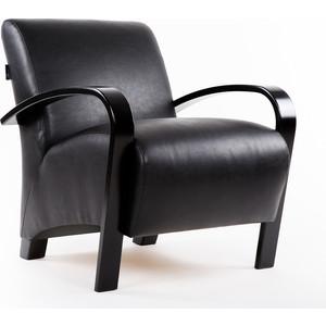 Кресло Мебелик Балатон экокожа черный, каркас венге