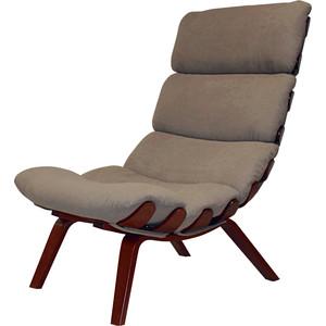 Кресло Мебелик Ессей ткань какао, каркас вишня