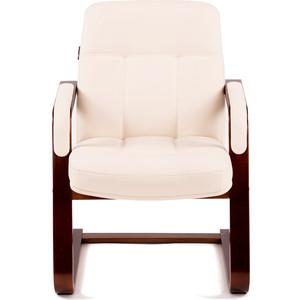 Кресло Мебелик Мичиган-1 с подлокотниками экокожа крем, каркас вишня