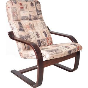 Кресло Мебелик Сайма ткань винум 02, каркас вишня