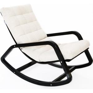 Кресло-качалка Мебелик Онтарио ткань гардения, каркас венге