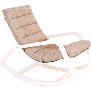Кресло-качалка Мебелик Онтарио ткань миндаль, каркас бежевый