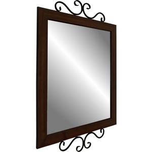 Мебелик Зеркало навесное Сартон 52 черный/средне-коричневый стоимость