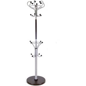Мебелик Вешалка напольная Д 4 металлик/ венге вешалка напольная мебелик вешалка стойка м 1 металлик