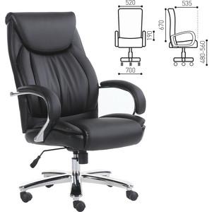 Кресло офисное Brabix Advance EX-575 хром, экокожа/черное 531825