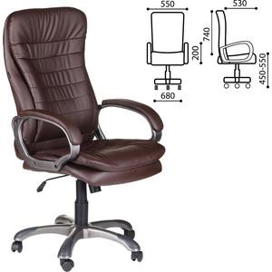 Кресло офисное Brabix Omega EX-589 экокожа, коричневое 531401