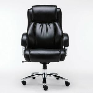 Кресло офисное Brabix Status HD-003 рециклированная кожа/хром, черное 531821