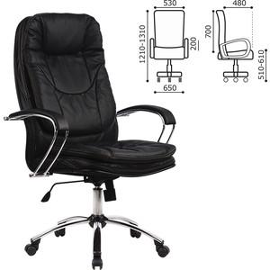 Кресло офисное Metta LK-11CH кожа, хром, черное, ш/к 85789