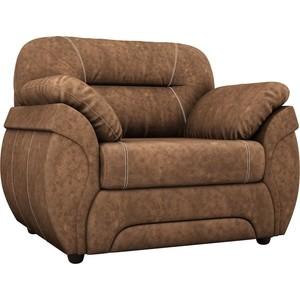 Кресло АртМебель Бруклин велюр коричневый