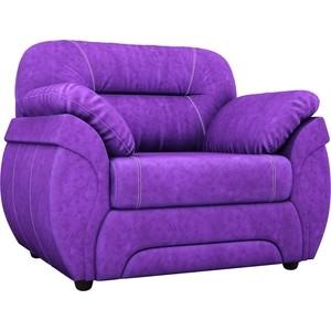 Кресло Лига Диванов Бруклин велюр фиолетовый