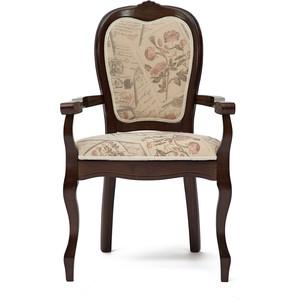 Кресло TetChair Princess (PR-AC) дерево гевея, tobacco, ткань прованс №11 кресло tetchair fiona 2 fn ac2 дерево гевея tobacco ткань бежевая полоска tx 1b