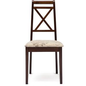 Стул TetChair Picasso (PC-SC) дерево гевея, tobacco, ткань прованс №11 кресло tetchair fiona 2 fn ac2 дерево гевея tobacco ткань бежевая полоска tx 1b