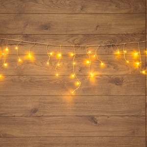 Neon-Night Гирлянда Айсикл (бахрома) светодиодная, 1,8 х 0,5 м, прозрачный провод, 230 В, диоды ТЕПЛЫЙ БЕЛЫЙ