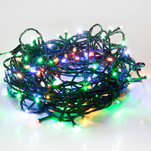 Neon-Night Гирлянда Твинкл Лайт 10 м, темно-зеленый ПВХ, 80 LED, цвет мультиколор