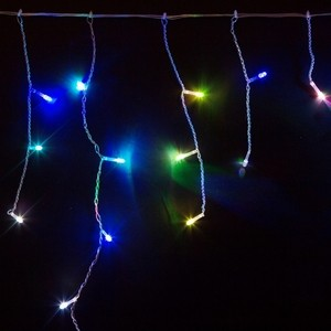 Neon-Night Гирлянда Айсикл (бахрома) светодиодный, 1,8 х 0,5 м, прозрачный провод, 230 В, диоды RGB