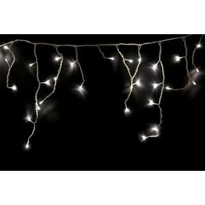 Neon-Night Гирлянда Айсикл (бахрома) светодиодный, 1,8 х 0,5 м, белый провод, 230 В, диоды белые, 48 LED гирлянда neon night айсикл 2 4x0 6m 88 led warm white 255 046