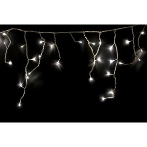Neon-Night Гирлянда Айсикл (бахрома) светодиодный, 1,8 х 0,5 м, белый провод, 230 В, диоды ТЕПЛЫЙ БЕЛЫЙ, 48 LED