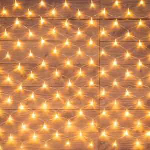 Neon-Night Гирлянда Сеть 1,8х1,5м, прозрачный ПВХ, 180 LED ТЕПЛЫЙ БЕЛЫЙ