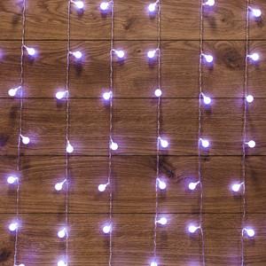Neon-Night Гирлянда Светодиодный Дождь 1,5*1,5 м, с насадками шарики, свечение динамикой, прозрачный провод, 230 В, диоды Белый