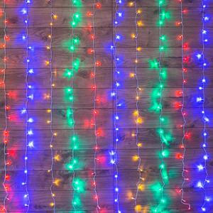 Neon-Night Гирлянда Светодиодный Дождь 2*3 м, свечение с динамикой, прозрачный провод, 230 В, диоды Мультиколор
