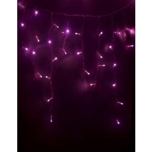 Neon-Night Гирлянда Айсикл (бахрома) светодиодный, 2,4 х 0,6 м, белый провод, 230 В, диоды розовые, 88 LED