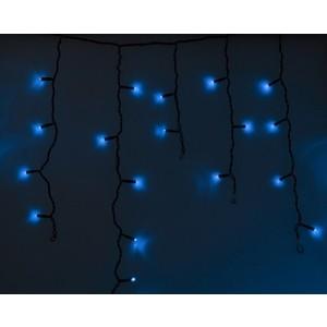 Neon-Night Гирлянда Айсикл (бахрома) светодиодный, 2,4 х 0,6 м, черный провод, 230 В, диоды синие, 88 LED гирлянда neon night galaxy bulb string светодиодная влагостойкая 30 ламп х 6 led каучуковый провод цвет черный зеленый 10 м