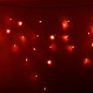 Neon-Night Гирлянда Айсикл (бахрома) светодиодный, 2,4 х 0,6 м, прозрачный провод, 230 В, диоды красные, 88 LED гирлянда neon night айсикл 2 4x0 6m 88 led warm white 255 046