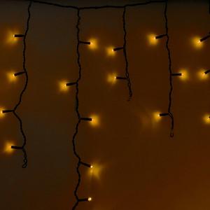Neon-Night Гирлянда Айсикл (бахрома) светодиодный, 2,4 х 0,6 м, черный провод, 230 В, диоды желтые, 88 LED гирлянда neon night айсикл 2 4x0 6m 88 led warm white 255 046