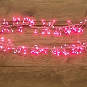 Neon-Night Гирлянда Мишура LED 3 м прозрачный ПВХ, 288 диодов, цвет розовый