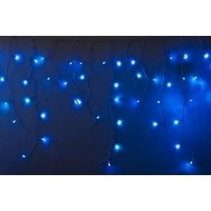 Neon-Night Гирлянда Айсикл (бахрома) светодиодный, 2,4х0,6м, эффект мерцания, белый провод, 230 В, диоды СИНИЕ, 88 LED гирлянда neon night айсикл 2 4x0 6m 88 led warm white 255 046