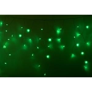 Neon-Night Гирлянда Айсикл (бахрома) светодиодный, 2,4 х 0,6 м, прозрачный провод, 230 В, диоды зеленые, 88 LED цена в Москве и Питере