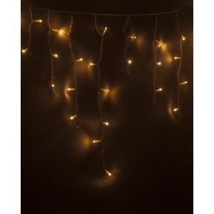 Neon-Night Гирлянда Айсикл (бахрома) светодиодный, 2,4 х 0,6 м, белый провод, 230 В, диоды ТЕПЛЫЙ БЕЛЫЙ, 88 LED